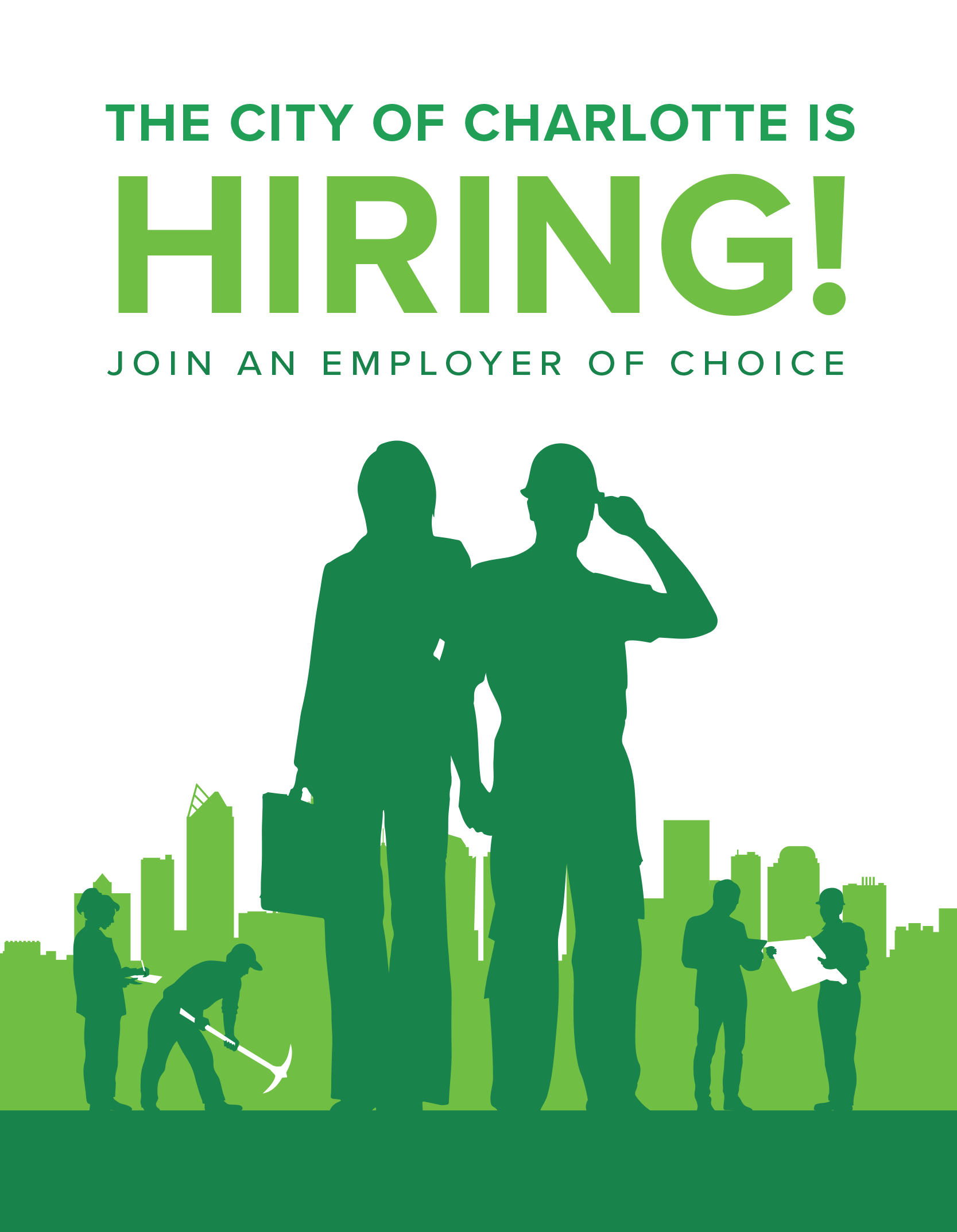 the city of charlotte is hiring join our winning team