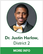 Dr. Justin Harlow district 2 bio page