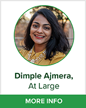 Dimple Tansen Ajmera At large bio page