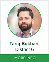 Tariq Bokhari district 6 bio page