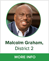 Malcolm Graham district 2 bio page