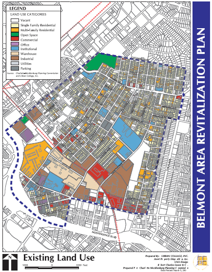 Belmont Area Map Showing Proposed Development Areas