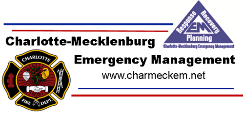 Emergency Management and Charlotte Fire Department Combined Logo