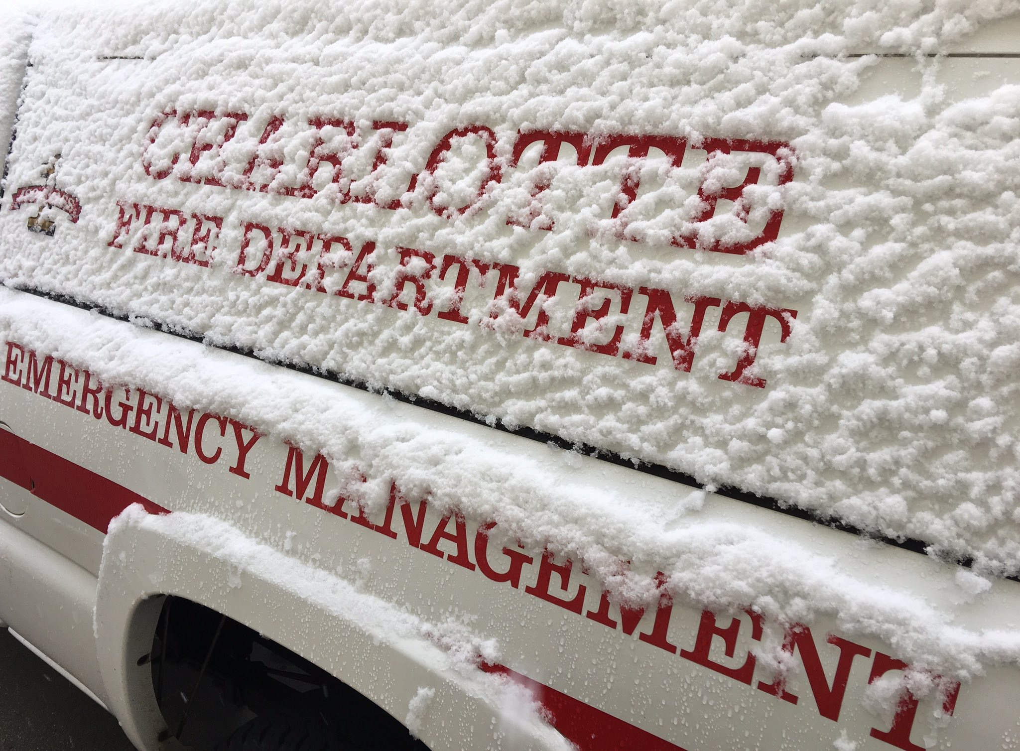 Snow Covering Emergency Management Vehicle