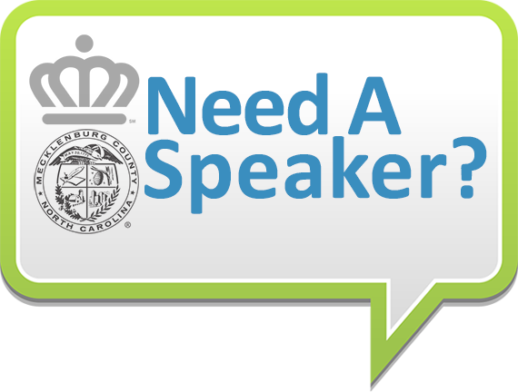 Need a Speaker Graphic with City of Charlotte Logo and Mecklenburg County logo