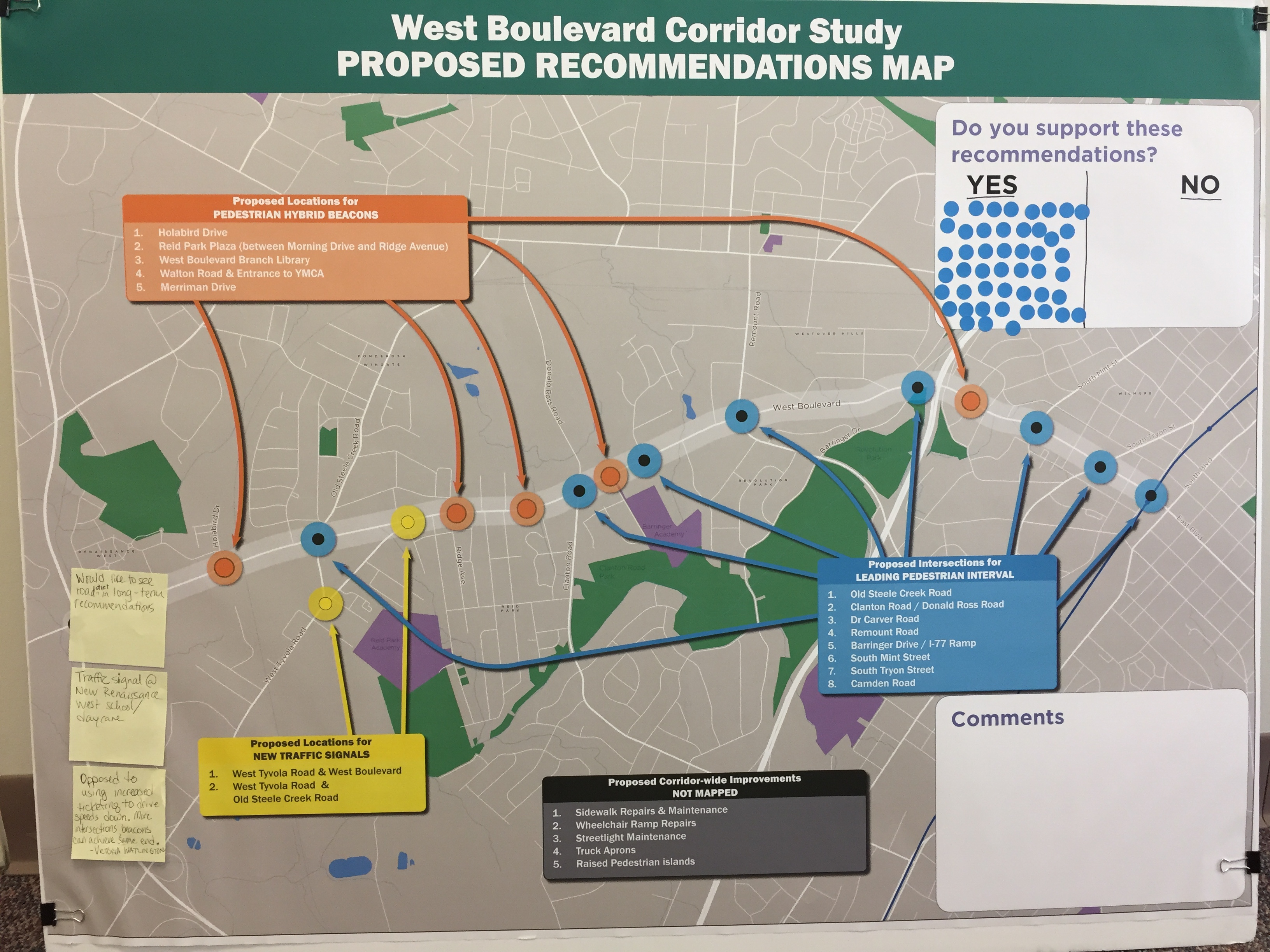 Charlotte road construction projects - Proposed Recommendations Board Feedback