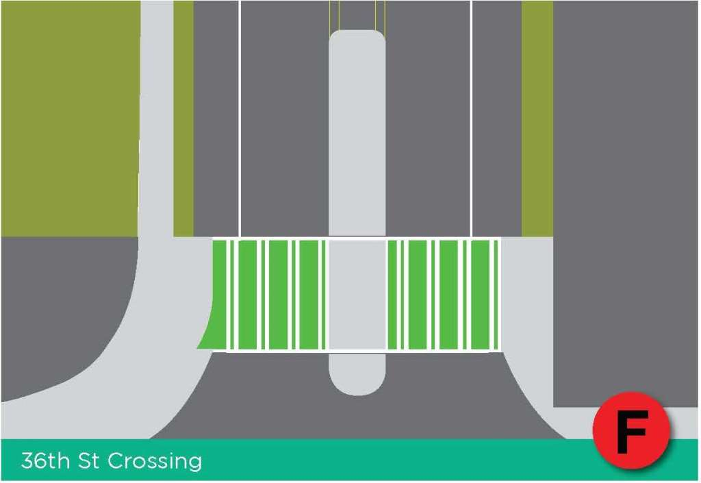 Rendering of 36th Street crossing