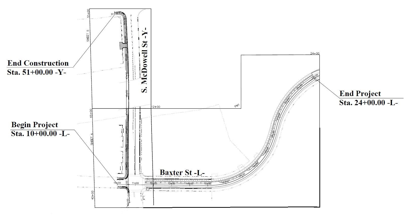 CAD drawing of Belk Greenway Connector
