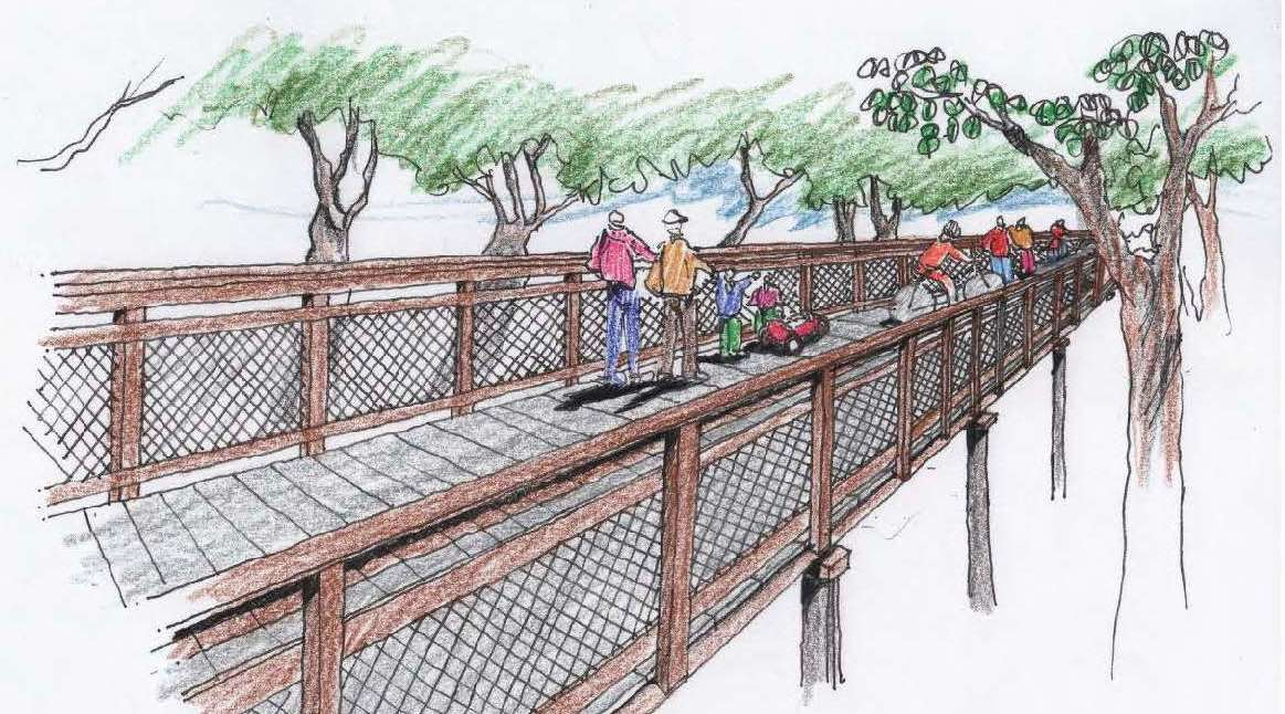Rendering of boardwalk