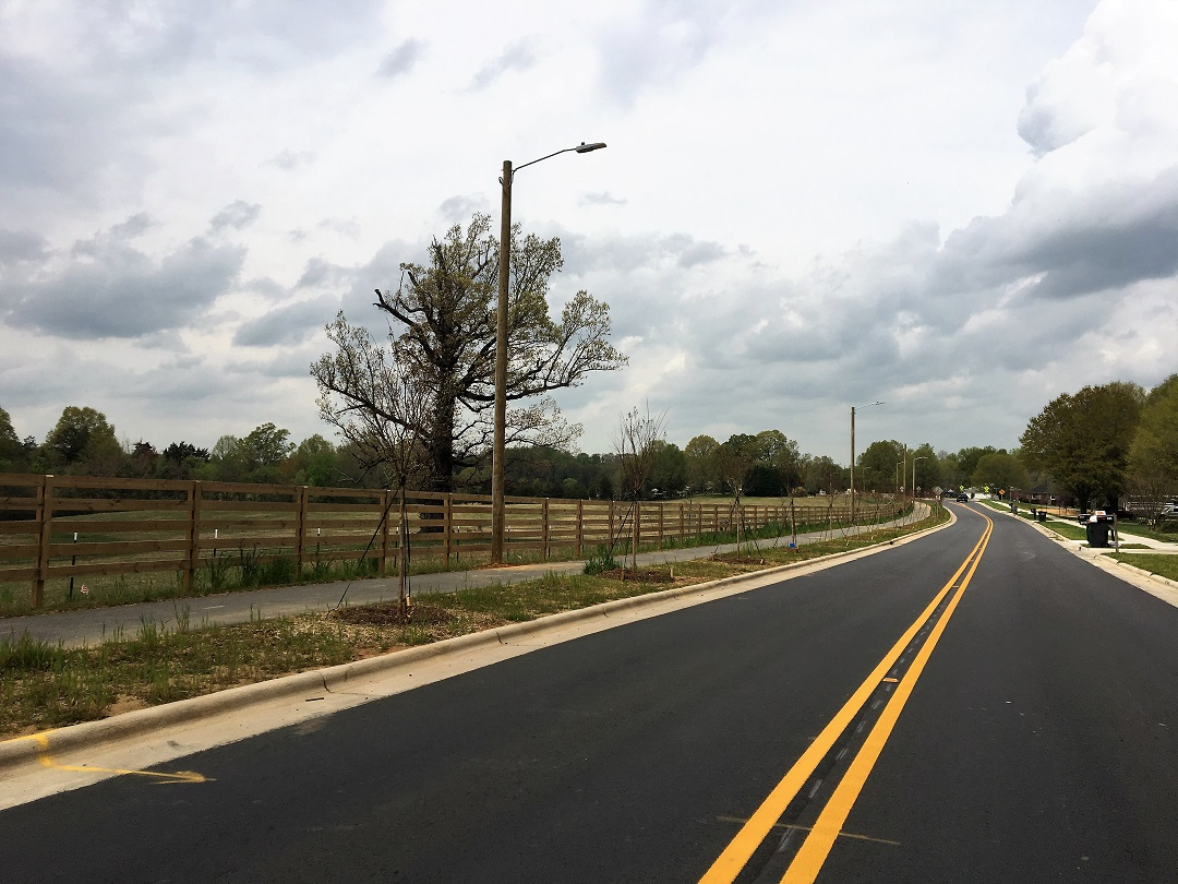 Back Creek Church Road after construction