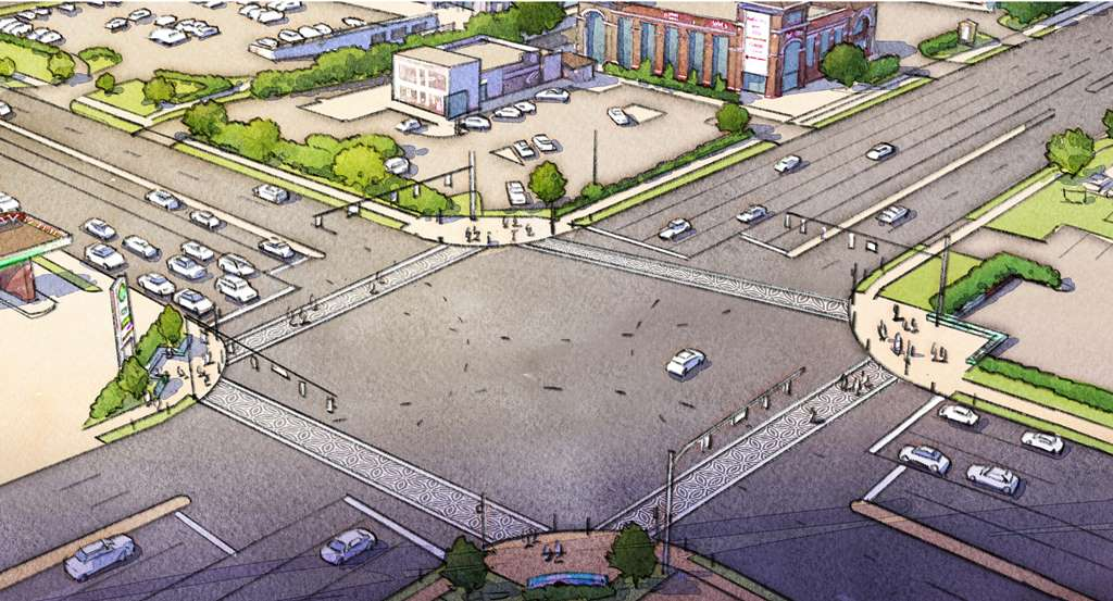 Consultant rendering of intersection
