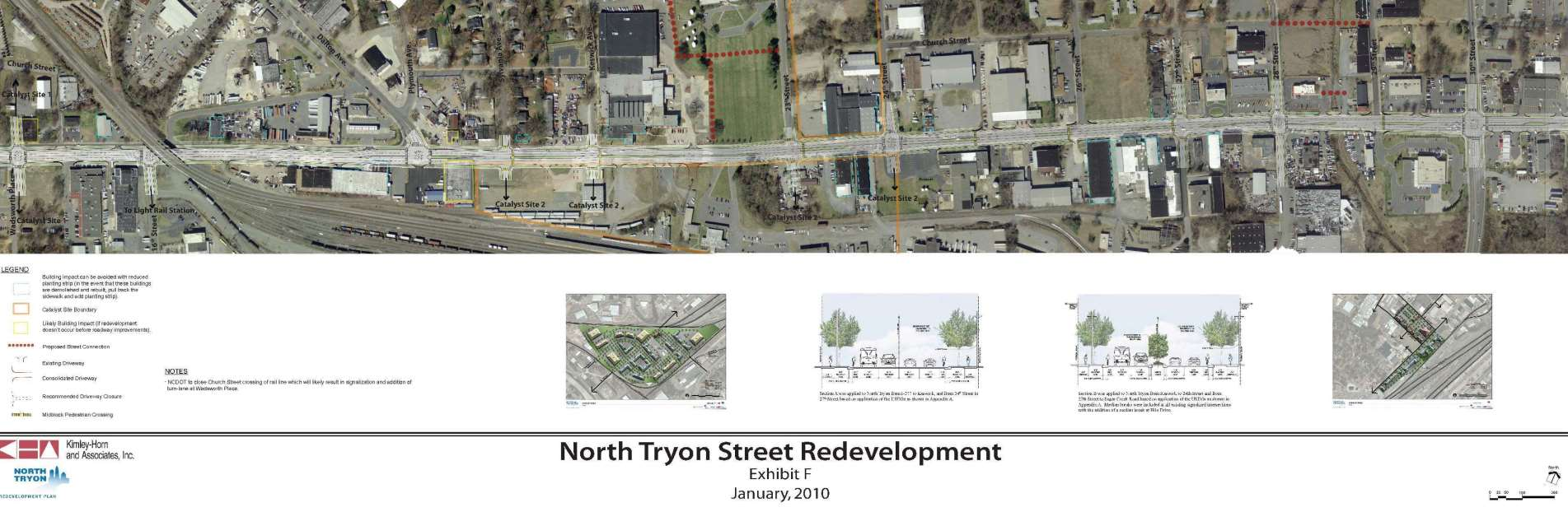North Tryon Business Corridor map