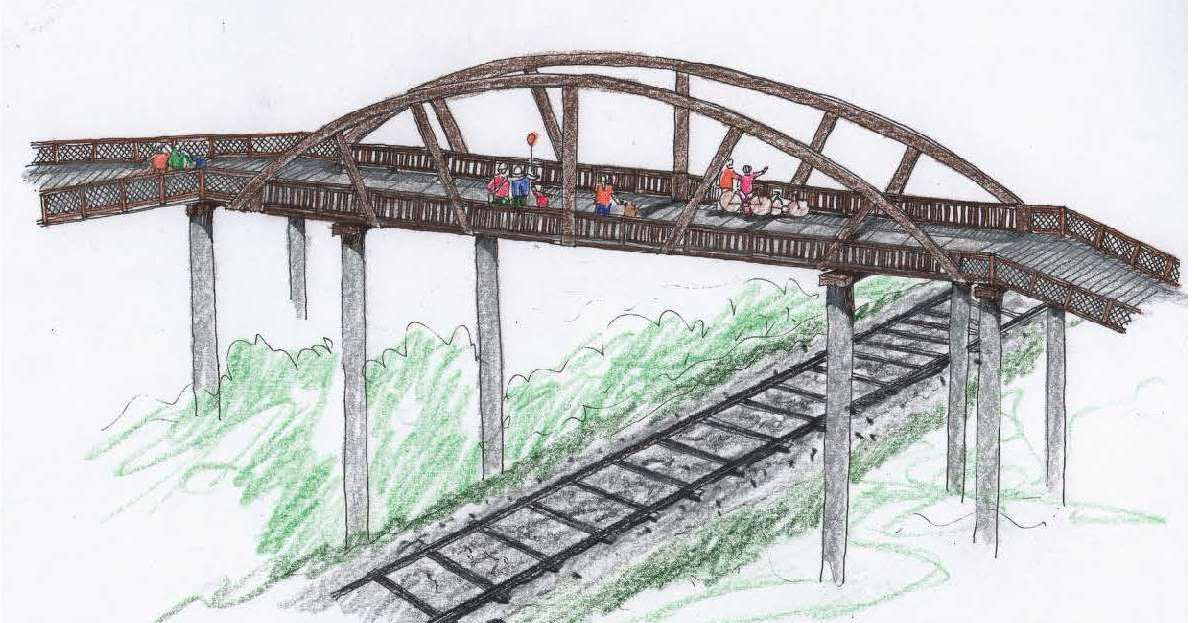 Rendering of overhead bridge