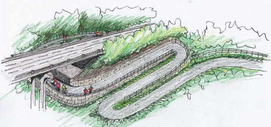 Rendering of switchbacks