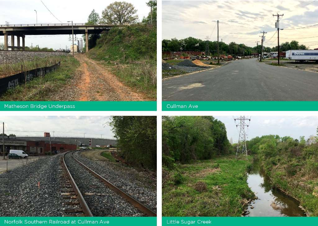 Photos of current conditions along the proposed trail alignment