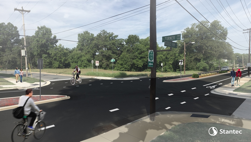 Consultant rendering of Rozzelles Ferry and Turner Avenue intersection