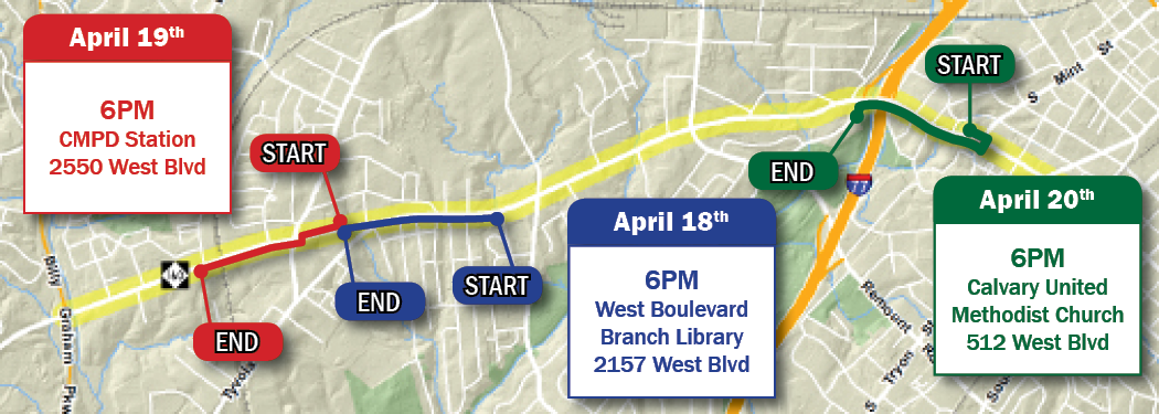 West Boulvard Corridor Study Walking Tour Map