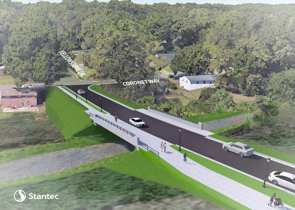 Consultant rendering of Yellowstone Drive bridge