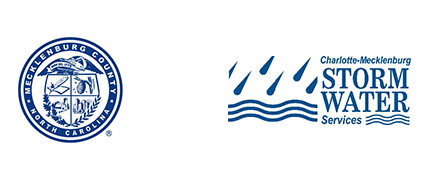 Mecklenburg County seal and Storm Water Services logo