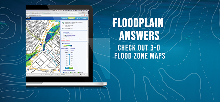 Check out 3-D Flood Zone Maps
