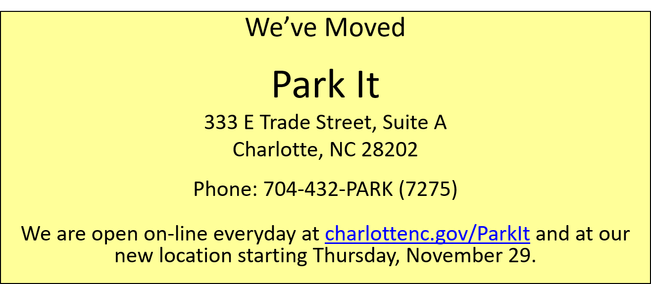 Park It relocating: New address and Phone number