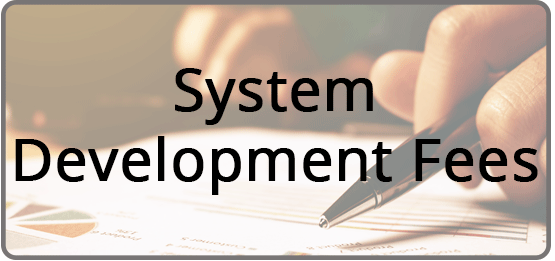 System Development Fees Front Page button