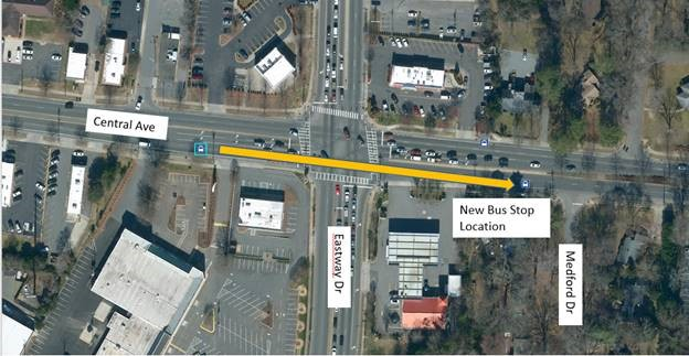 Central Ave Bus Stop Relocation