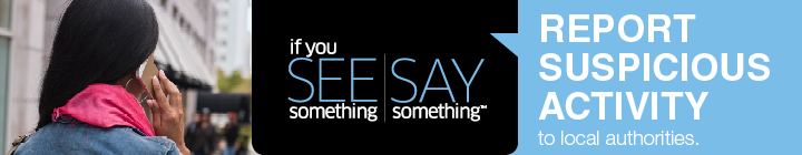 If you See something Say something banner