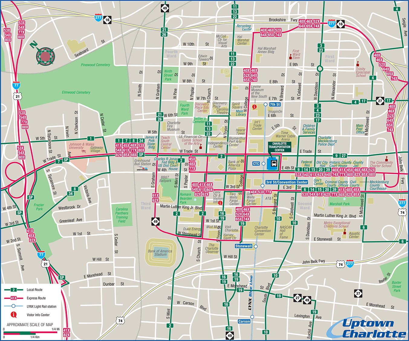 uptown map. maps
