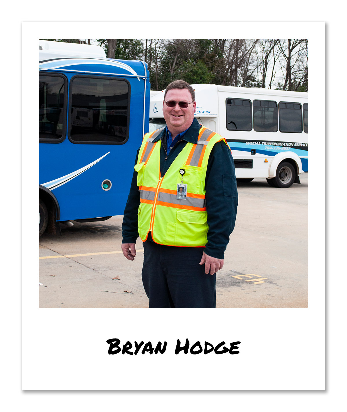Click on image of Special Transportation Service (STS) Operator - Bryan Hodge to hear and see the video
