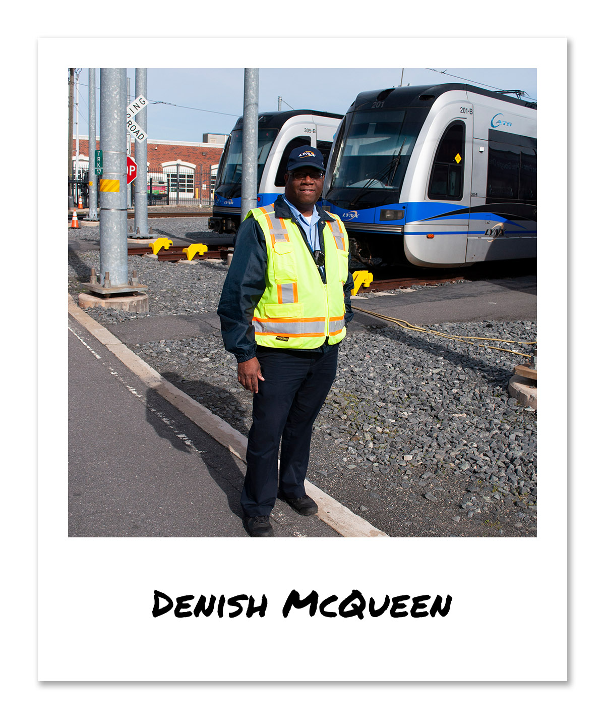 click on the image of LYNX Light Rail Operator - Denish McQueen to hear and see the video
