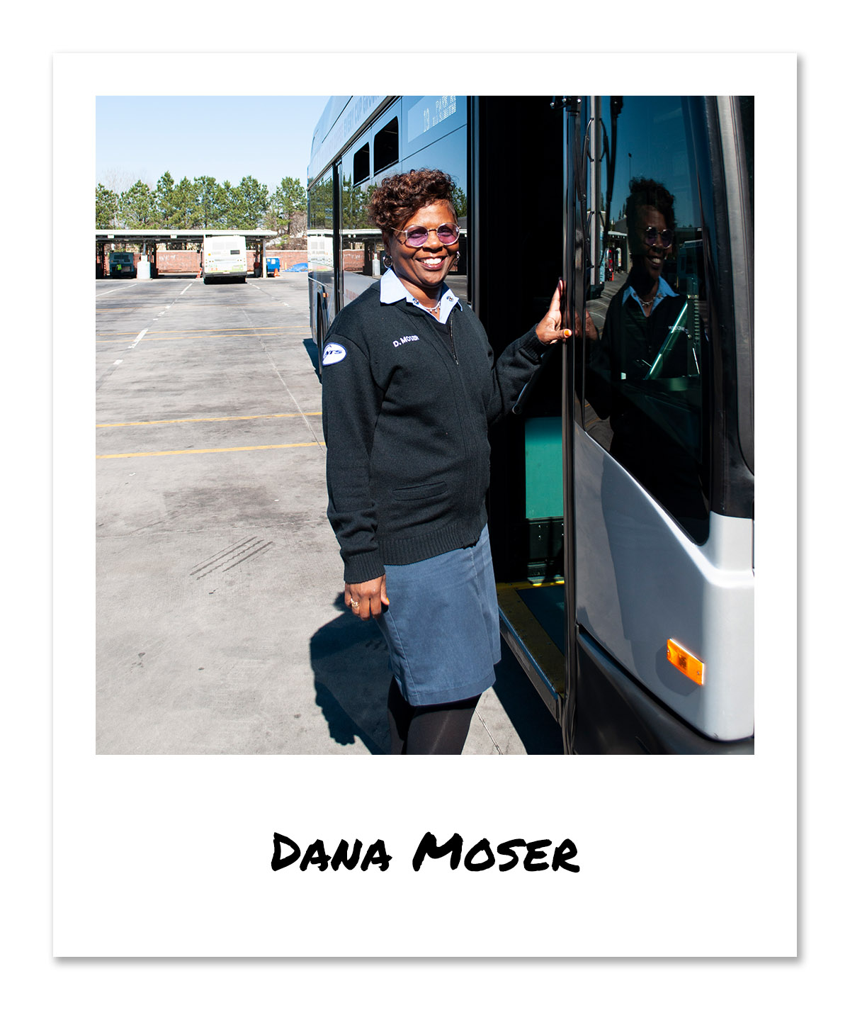 click on image of CATS Bus Operator - Dana Moser to hear and see the video
