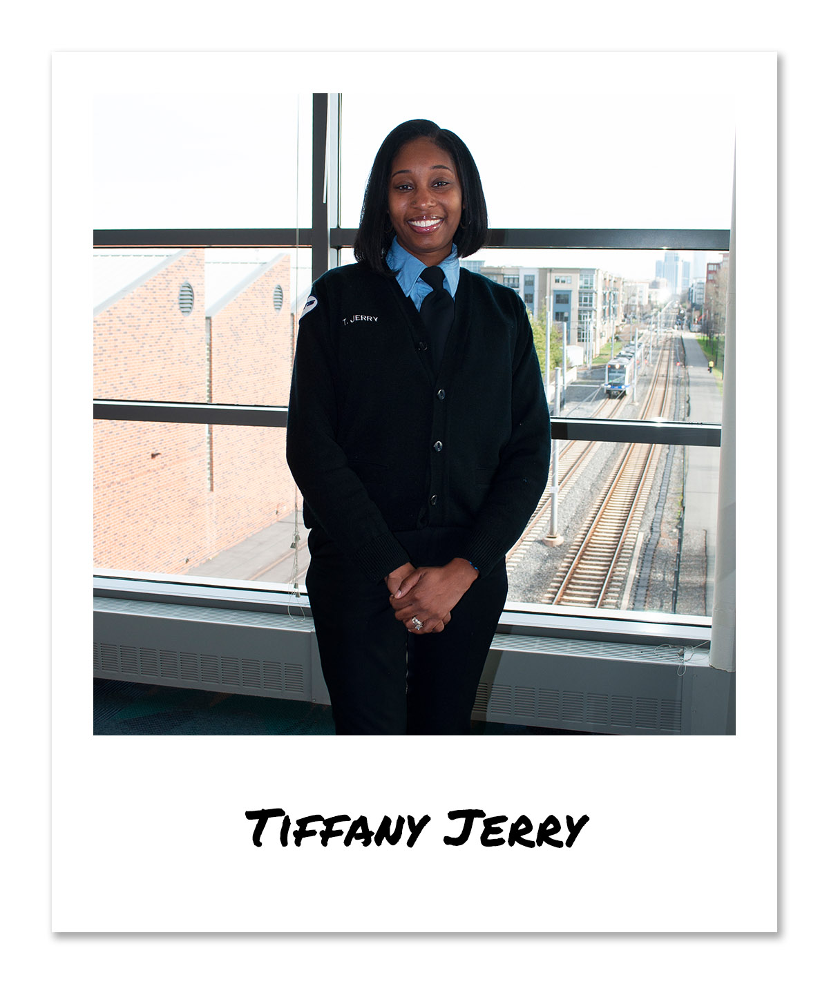 click on the image of LYNX Light Rail Operator - Tiffany Jerry to hear and see the video