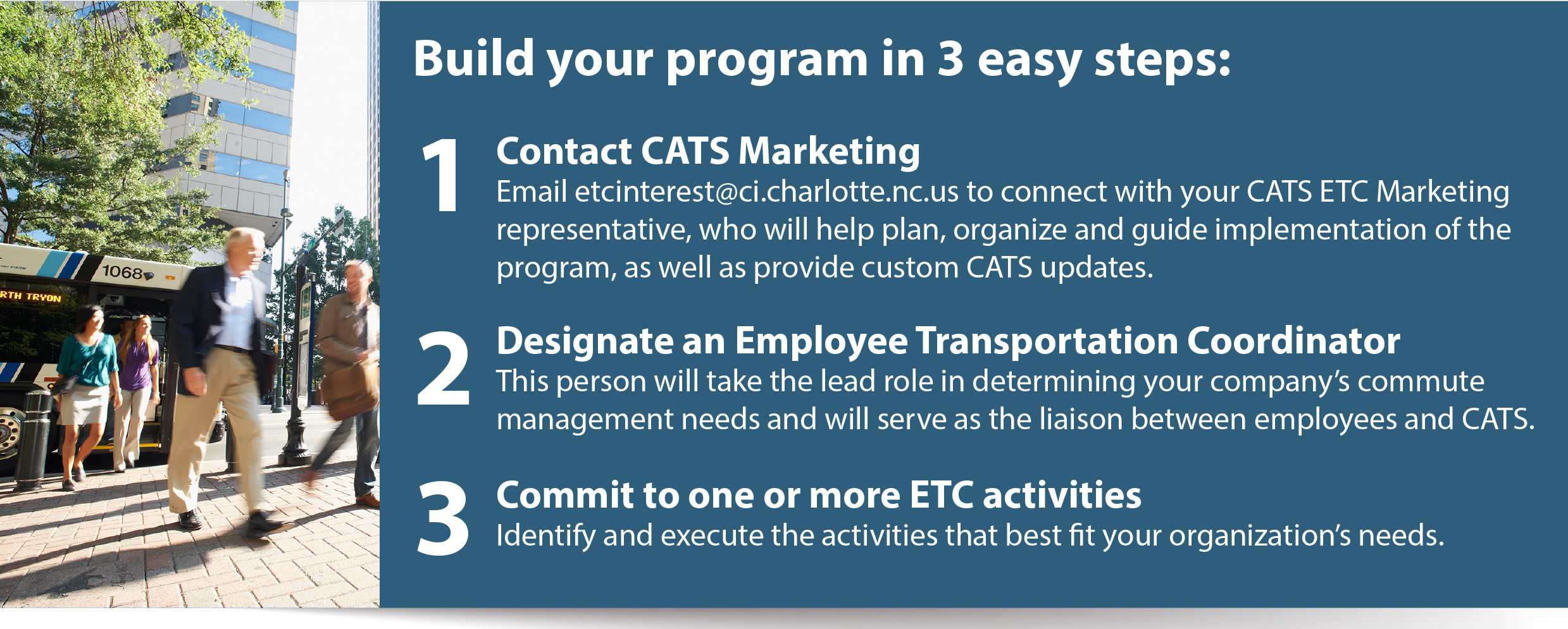 Image of Employee Transportation Coordinator Program starting steps