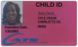 CATS issued Child transit ID