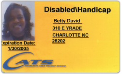 CATS issued ADA transit ID