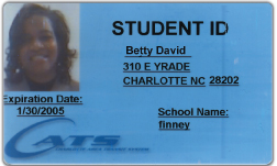 CATS issued Student transit ID