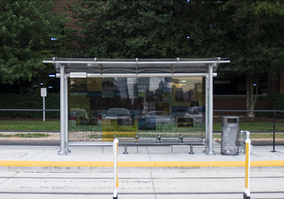 Picture of streetcar shelter