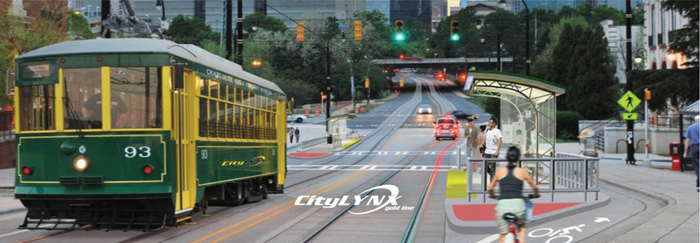 Picture of streetcar riding down Elizabeth Avenue