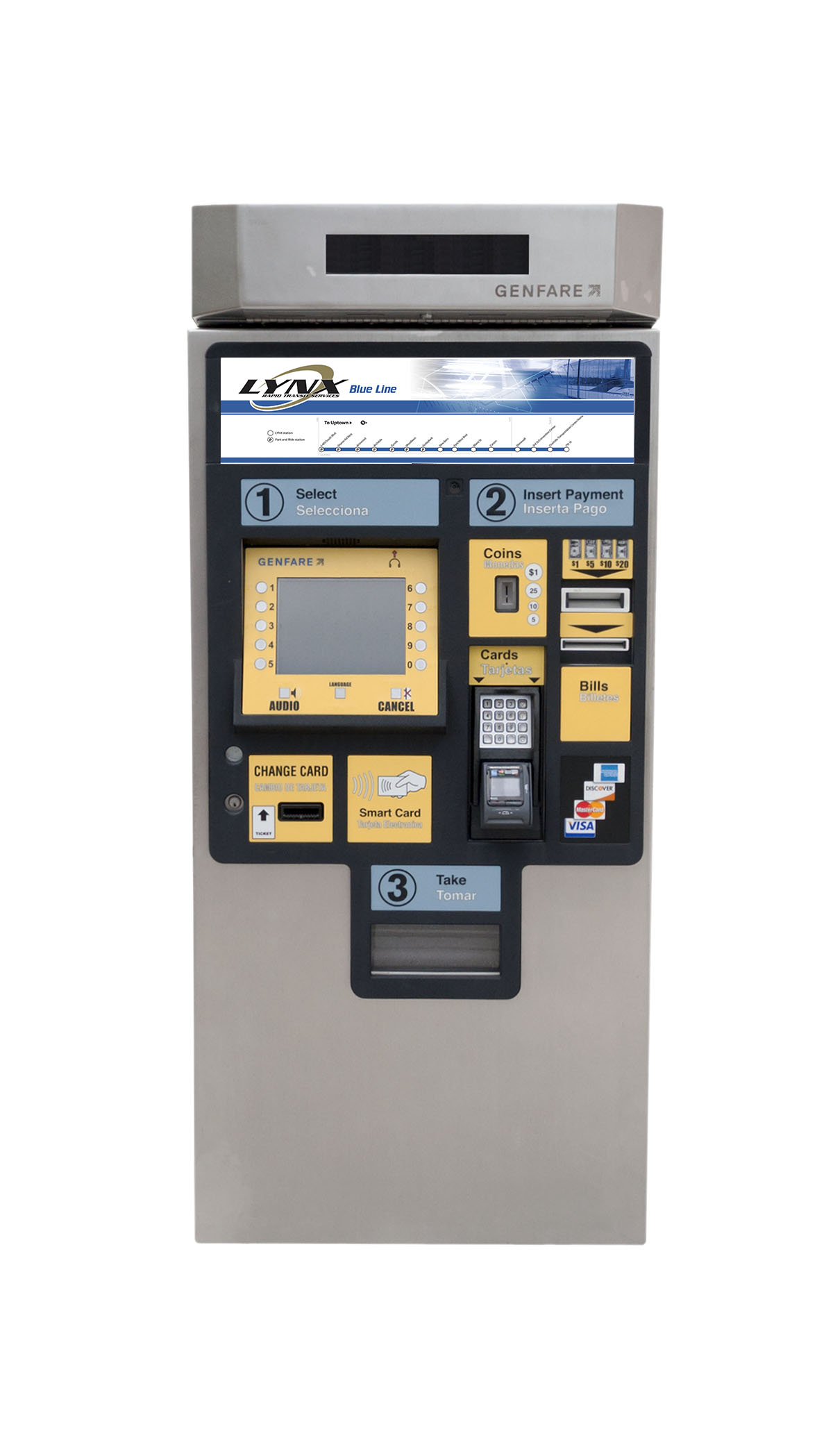 Picture of new Ticket Vending Machines on LYNX platforms