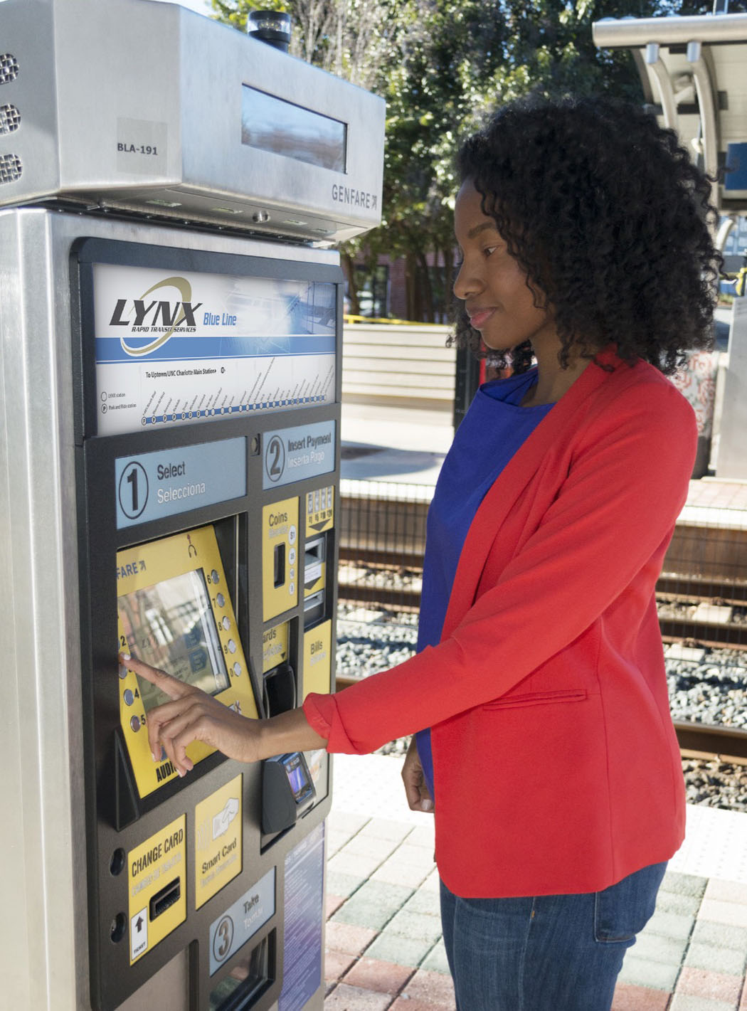 Picture of How to use the ticket vending machine brochure. forward to hear how to use the ticket vending mahines and play a vide