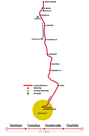 LYNX Red line map