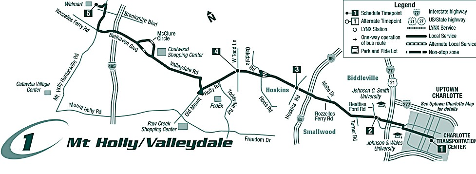 Route 1 Mt. Holly/Valleydale Map