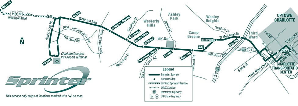 Route 5 Sprinter Map