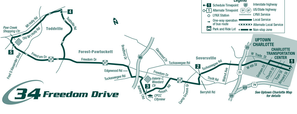 Route 34 Freedom Dr. Map