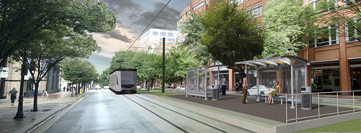 Rendering of the future Johnson & Wales University stop