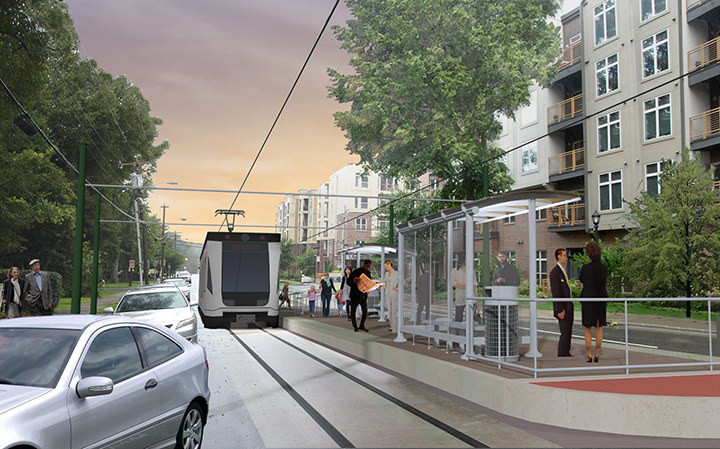 Rendering of the future Sunnyside Avenue stop