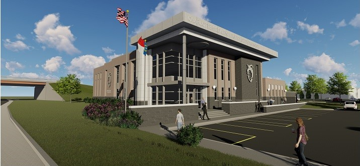 Rendering of Independence Division police station