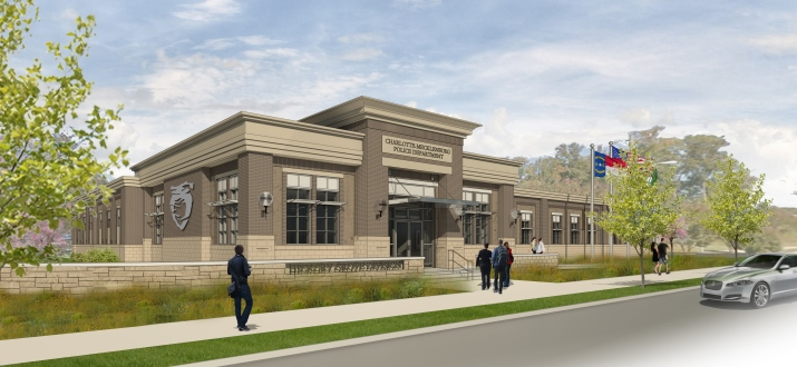 rendering of Hickory Grove police station