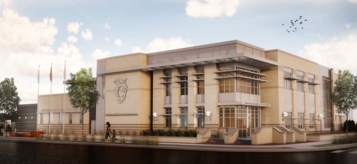 Rendering of University City Division police station